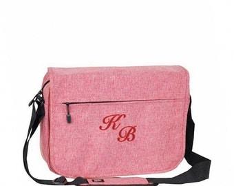 Trendy Element Laptop Bag With Monogram - Coral