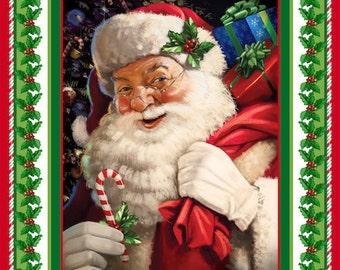 Jolly Old St. Nicholas Christmas Panel / Northcott 21156 /  St. Nicholas Quilt Top Panel