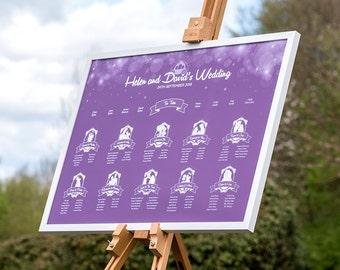 Enchanted Fairytale Disney Wedding Table Plan / Seating Plan / Table Planner / Seating Chart