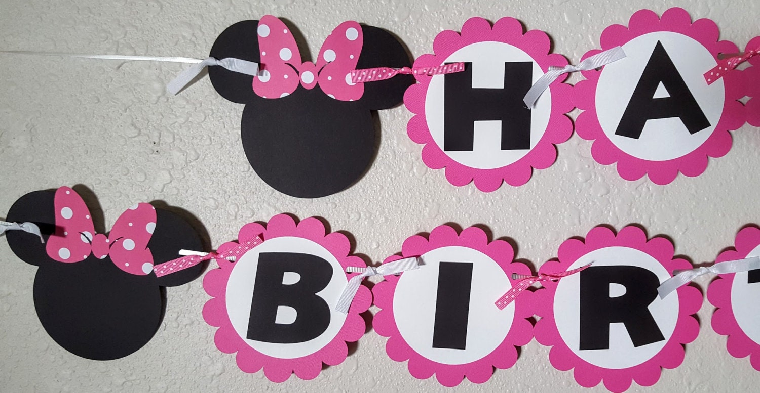 minnie mouse birthday banner minnie mouse banner minnie
