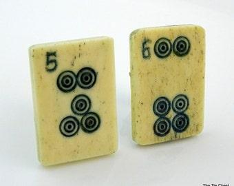 Vintage Mahjong Tile Cufflinks