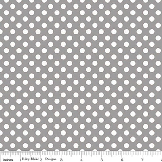 Riley Blake Basics Small Dot C320-40 Gray Remnant 3/4 yard to 1 yard