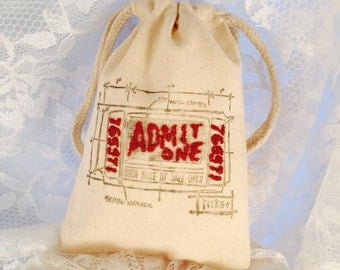 Admit One Favor Bags - Circus Party - Carnival Party - Decorations - Boy - Girl - Guest Bags - Birthday Party - Customized - Set of 10