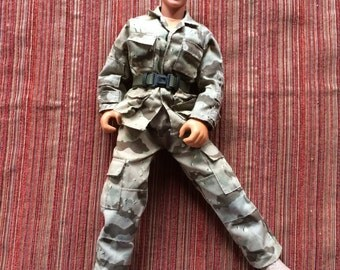 Military Doll,Army Doll,Military Ken,GI Joe,Soldier Doll,Ken Clothes,Camouflage Doll,Fatigue Doll,Army Ken,GI Joe,Ken Clothes,GI Joe Clothes