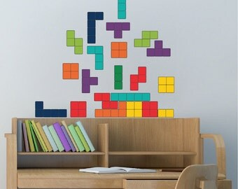 Tetris Wall Decal Design Kids Video Game Bedroom Wall Sticker Designs,  Tetris Wall Murals, Part 22