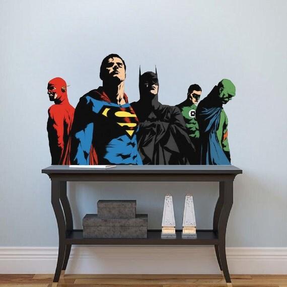 Superheroes Decals Batman Decal Mural Superman Decals