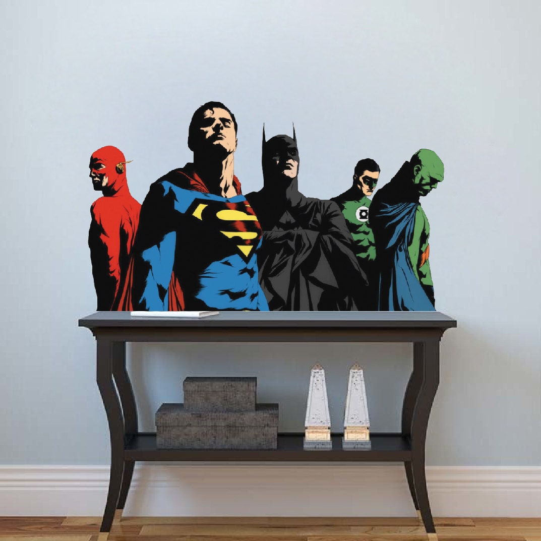 Superhero Bedroom Decals Batman Wall Decal Mural Superman