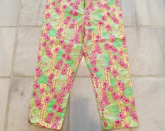 Lilly Pulitzer women's size 12 preppy zip front pant