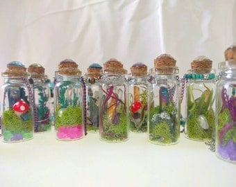 Crystals in a Bottle Necklace - Custom -