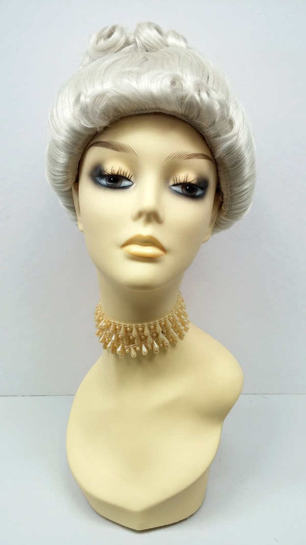 Light Gray Upstyle Costume Wig Victorian By Paramountwigs
