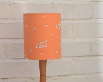Lamp shade, Orange lampshade, spring lighting, home decor, lighting, lamp, lampshades, handmade lighting, table lamp, floor lamp, drum lamps