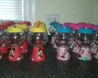Mickey and Minnie Gumball machine Jar set