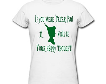 Peter Pan, Happy  Thought T-shirt - Women's White Tshirt - Disney Tshirt