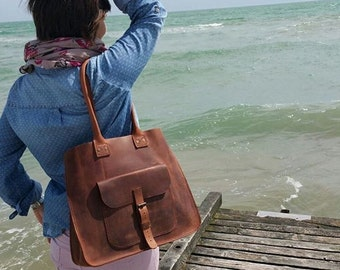 Premium Italian Leather !! Brown Leather Tote Bag,Tote bag.17