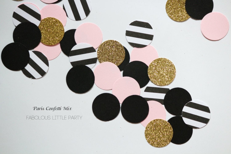 Paris Confetti Table Decorations Bridal Shower/1st Birthday