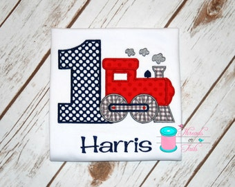 Train Birthday Shirt - Birthday Shirt - Train Applique Shirt - Train Shirt - Train Applique
