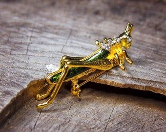 Grasshopper Brooch #5438