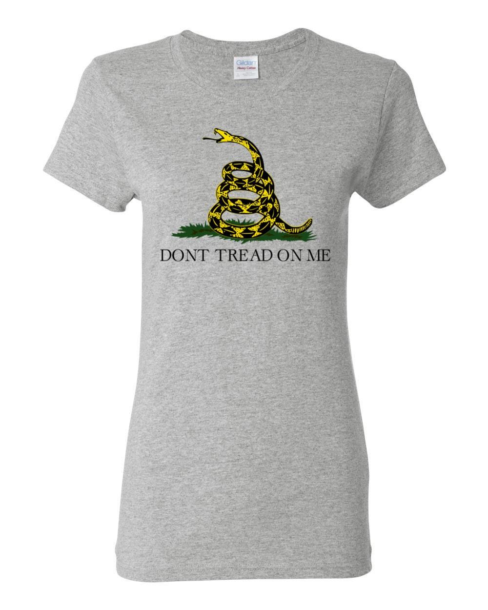 US History - Historical Gadsden Flag Womens T-shirt