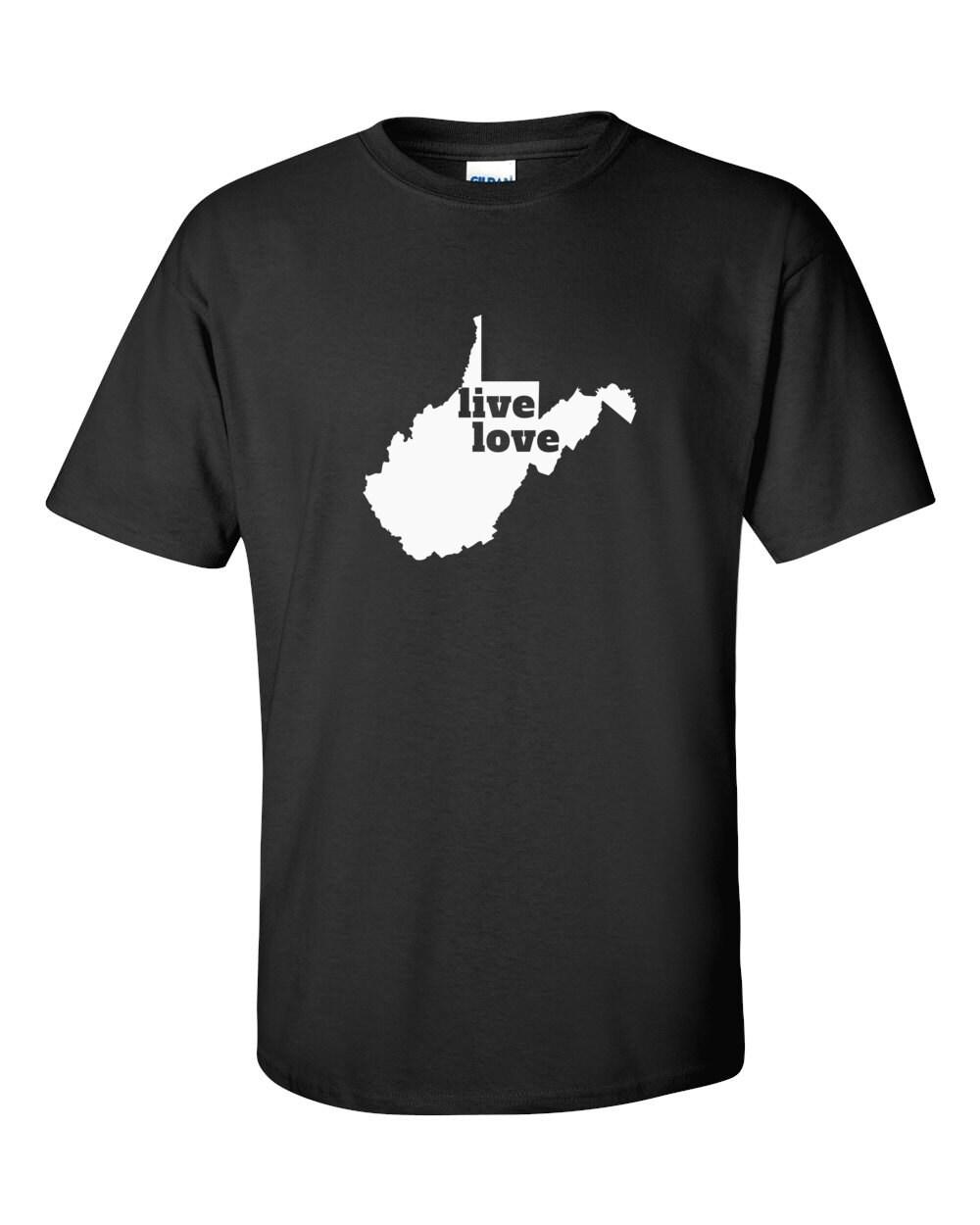 West Virginia T-shirt - Live Love West Virginia - My State West Virginia T-shirt