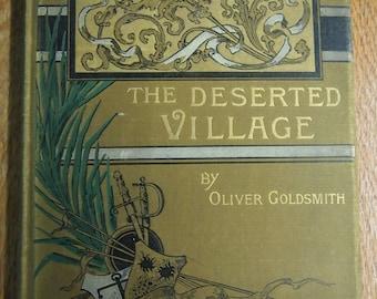 """Vintage book, O. Goldsmith, """"The Deserted Village"""", 1885"""