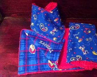 KU Burp Cloth and Bib Set