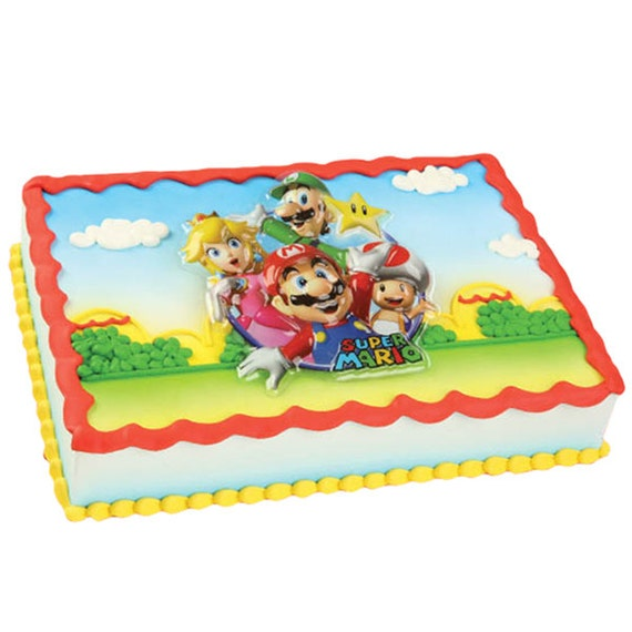Mario Cake Decorating Kit : Super Mario Kart Cake Topper Layon Decoration Mario Luigi