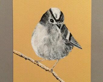 Goldcrest Print, Bird Art