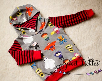 Baymax Hoodie- Children Hoodie- Big Hero 6 Hoodie Inspired.Girls Hoddie- Boys Hoddie-Kids Hoodi-