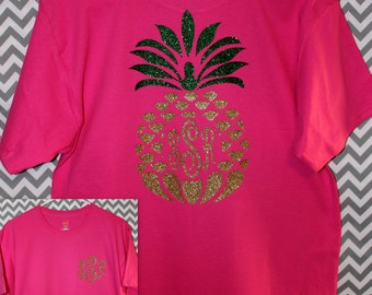 Pineapple Monogram Shirt Toddler / Youth / Adult