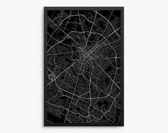 Lexington City Street Map, Lexington Kentucky USA, Modern Art Print, Lexington Office Decor Idea, Lexington Home Decor Idea, Lexington Map