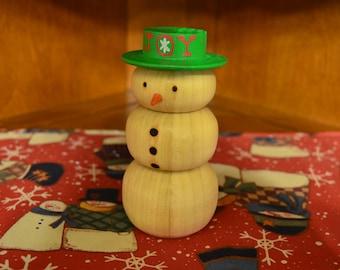 Christmas Wooden Snowman