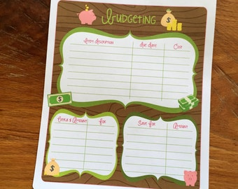 N055 - Notes Section: Budget Planner Stickers | Perfect for Your Erin Condren Life Planner