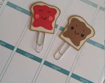 Peanut Butter Jelly Time Planner Clips