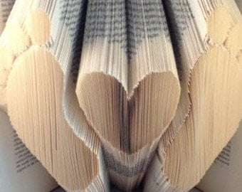 Baby feet and Heart folded Book