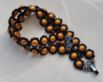"bracelet ""Mae"" copper and black"