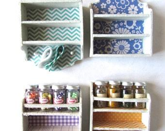 Miniature shelf- scale 1:12- Dollhouses miniatures-unique items