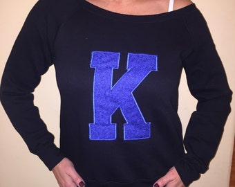 Kentucky swearshirt - boat neck or off shoulder