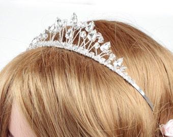 Children's Crystal Tiara, Childrens Bridal Tiara, Wedding Tiara, Childs Bridal Tiara, Silver Tiara, Childrens Tiaras For Weddings