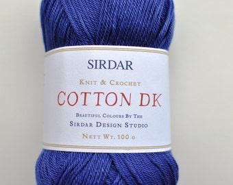 Sirdar DK 100% Cotton Yarn, #513  Sailor Blue.