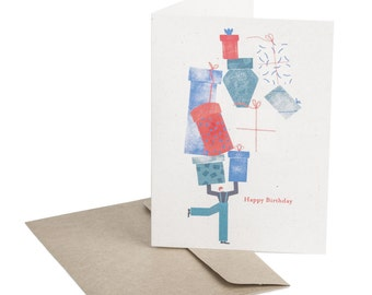 Birthday card. Birthday Gifts. Minimalist style. For her. For him