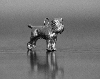 Sterling Silver Brussels Griffon Charm