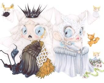 Snow white pop surrealism evil queen art print