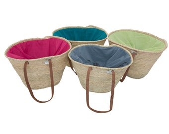 LPV Emma Double-Lined Basket with Long Handles