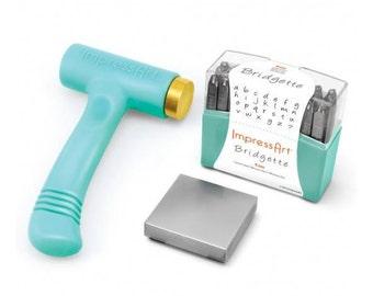 Metal Stamping Kit Bridgette 4mm Impression Impressart Lowercase Metal Stamps Alphabet Letters plus Bonus Stamps -No Shipping Costs USA-
