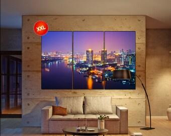 Bangkok canvas art prints large wall art canvas print Bangkok Wall Home office decor interior Office Decor