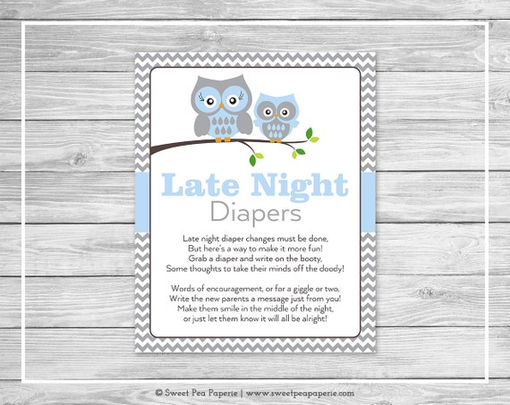 Luscious image with late night diapers free printable
