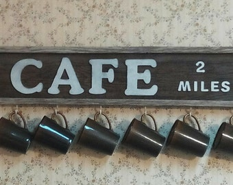 cup holder , cups, cafe, cafe sign, barnwood sign