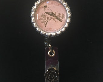 My Sweet Rose Nightingale  -Nurse Retractable ID Badge Reel/ RN Badge Holder/Doctor Badge Reel/Nurse Badge Holder/Nursing Student Gifts