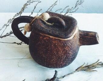 Ceramic  Tea Pot, handmade pottery rustic style cup