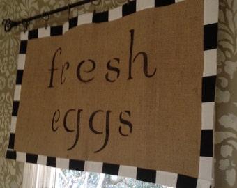Farmhouse Sign Curtain